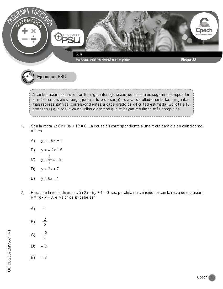 15) Posiciones relativas de rectas en el plano - pdf Docer ...
