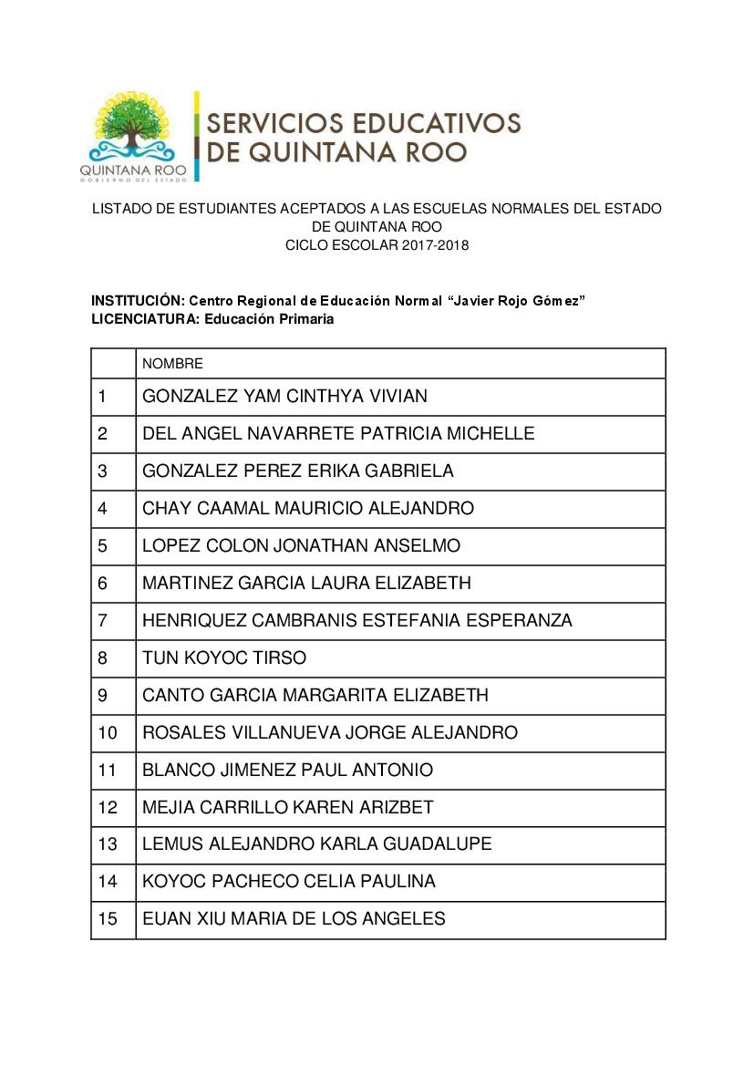 Formato Aspirantes Aceptados Primaria - pdf Docer.com.ar