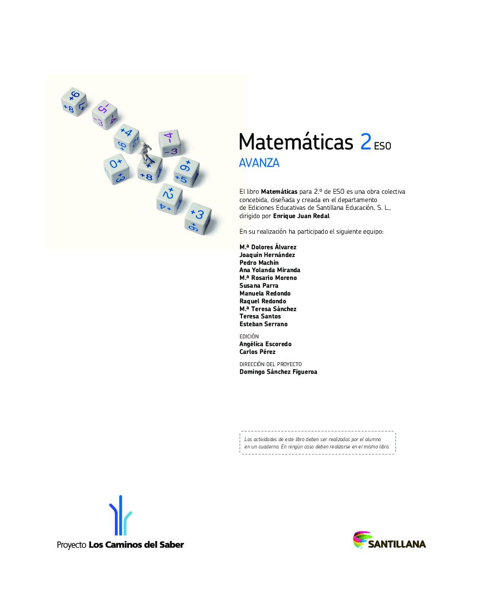 Matemáticas 2 Eso Avanza Santillana Pdf Docer Com Ar