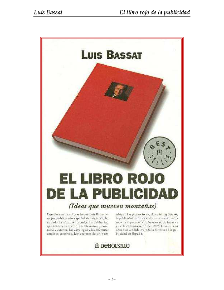 032-El Libro Rojo De La Publicidad - Luis Bassat - pdf