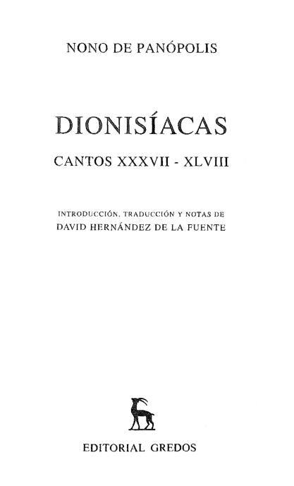 Nono De Panopolis Dionisiacas 37 A 48 370 Pdf Docer Com Ar
